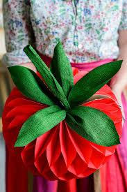 diy strawberry honeycomb tissue paper pom pom1