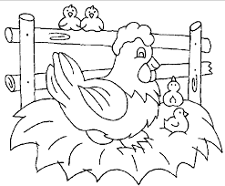 Small Picture Chicken Coloring Page Chicken Coloring Pages Free Coloring Pages