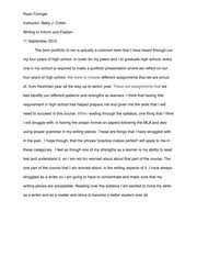 wrt interview paper ryan foringer instructor betty j cotter  1 pages