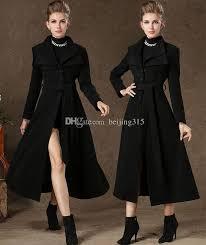 2018 elegant 2016 new winter coats plus size women dovetail double lapel neck wool coat y western black long woolen overcoat from beijing315