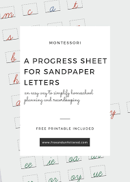 Introducing Sandpaper Letters A Free Progress Sheet To