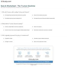 quiz worksheet the truman doctrine com print the truman doctrine definition summary purpose worksheet
