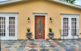 open front door welcome. A Large Stone Patio And Gorgeous Wood Front Door Welcome You Into The Lavish Foyer Flanked By Open Formal Dining Living Rooms. P