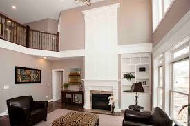 Family Room With Two Story Fireplace Royalty Free Stock Photo Two Story Fireplace