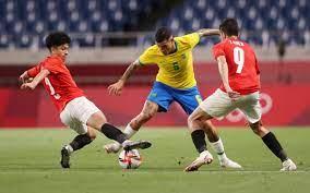 البرازيل ضد مصر .. كونها يحسم الشوط الأول لمنتخب السامبا في طوكيو 2020