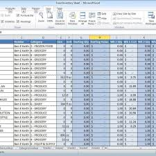 Inventory Spreadsheet Examples It Resume Templates Of Resignation