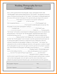 8 Wedding Contract Template Sales Clerked