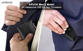 ARVOK <b>Wallets</b> Mens RFID Blocking Genuine <b>Oil Wax Leather</b> with ...