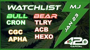Jan 23 Marijuana Stock Chart Analysis Cgc Weed Tlry Acb Apha Cron Aphria Ggb Buyout Update