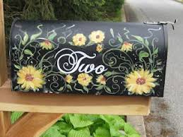 painted mailbox designs. Hand Painted Mailbox Designs T