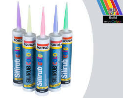 Light Grey Colour Silicone Sealant Soudal 310ml Ral 7035