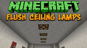 How To Make A Ceiling Light In Minecraft Minecraft Flush Ceiling Lamps Tutorial