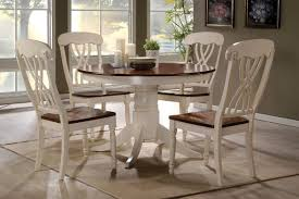 42 Lander Oak Buttermilk Round Kitchen Table Set
