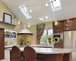 pitched ceiling lighting. Interior Exquisite Kitchen Lighting Vaulted Ceiling 5 Ideas Pitched