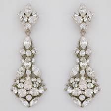 crystal chandelier earrings erin cole bridal earrings filigree crystal chandelier earrings
