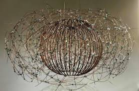 beaded version of bird s nest chandelier