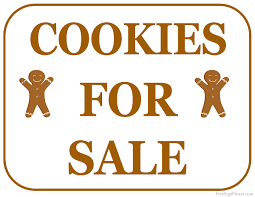 sale signs printable printable cookies for sale sign