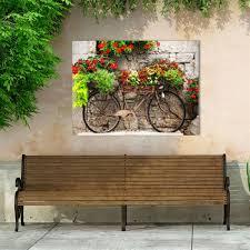 rusty bicyclette canvas wall art multi warm