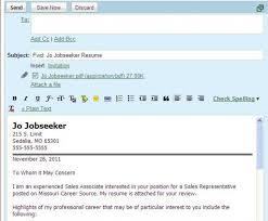 Sending Resume By Email Sample Sample Email When Sending Resume Sugarflesh 19