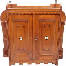 vintage teak wall cabinet 1930s