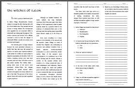 m witch trials reading questions student handouts the witches of m reading questions on the m witch trials of 1692