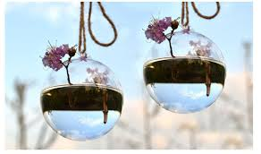 4 pieces dia 10cm blown glass ball ornaments hanging water planter vase indoor green plant for garden decor house ornament in vases from home garden on