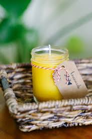 a super easy tutorial that shows you how to make your own homemade beeswax candles