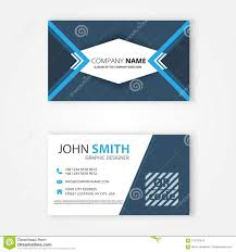 Personal Info Cards The Blue Business Card Template Stock Vector Illustration Of