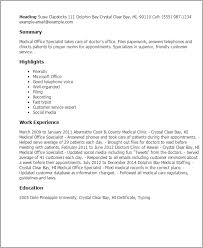 Office Resume Template Beauteous Medical Office Resume Templates Morenimpulsarco