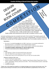 Book Jacket Design Competition Design Your Own Book Cover Competition Brunel Writer
