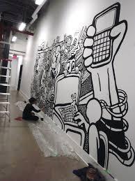 Black And White Mural Design Black And White Art Graffiti Murals Office Mural Graffiti
