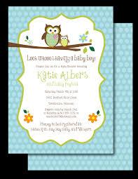 Baby Shower Invitation  Soft Surprise Blue U0026 Yellow CuteOwl Baby Shower Invitations For Boy