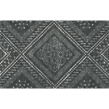 brea grey patterned rug