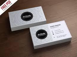 creative white business card free psd