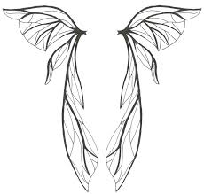 Wings Coloring Page Angel Template Download Wing Listoflinks Co