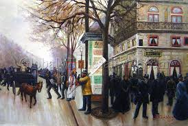 paris street scene by jean beraud oil painting from global whole art