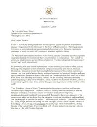 Letter from President Donald Trump to ...