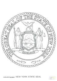 New York State Flag Coloring Page Seal Coloring Pages New York State