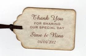 thank you tags for wedding favors 50 thank you tags gift tags wedding favor tags shower favor tags