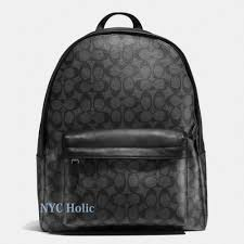 gucci book bags for men. new coach f55398 mens charles backpack in signature charcoal black nwt gucci book bags for men