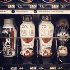 Gym Supplement Vending Machine Adorable Coconut Protein Delicious Hydration Check Out This New Addition
