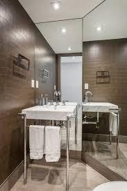 modern half bathroom. Paradise Valley Arizona United States Half Bath Powder Room Contemporary With Recessed Lighting White Bathroom Vanities Tops4- Marble Countertop Modern
