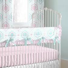 pink and aqua moroccan damask crib bedding carousel designs