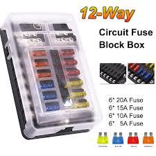 12 way led indicator blade fuse box holder block ip56 waterproof atc 12 way led indicator blade fuse box holder block ip56 waterproof atc ato 250 amp