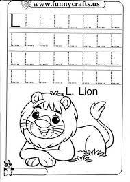 letter L writing practice worksheets
