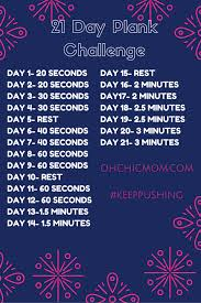 21 Day Plank Challenge Chart 21 Day Plank Challenge 21 Day Workout Plank Challenge