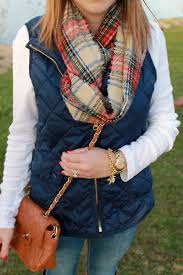 Navy Quilted Vest, Plaid Scarf | Style Inspiration | Pinterest ... & Navy Quilted Vest, Plaid Scarf Adamdwight.com