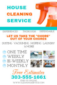 House Cleaning Template Free Customize 610 Cleaning Service Templates Postermywall