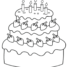 Cake Coloring Birthday Cake Coloring Pages Printable Printable