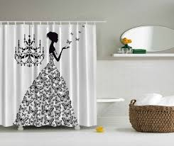 wish bathroom accessories 84 inch long shower curtains madame erfly black chandelier black erfly princess wedding gown extra long fabric black